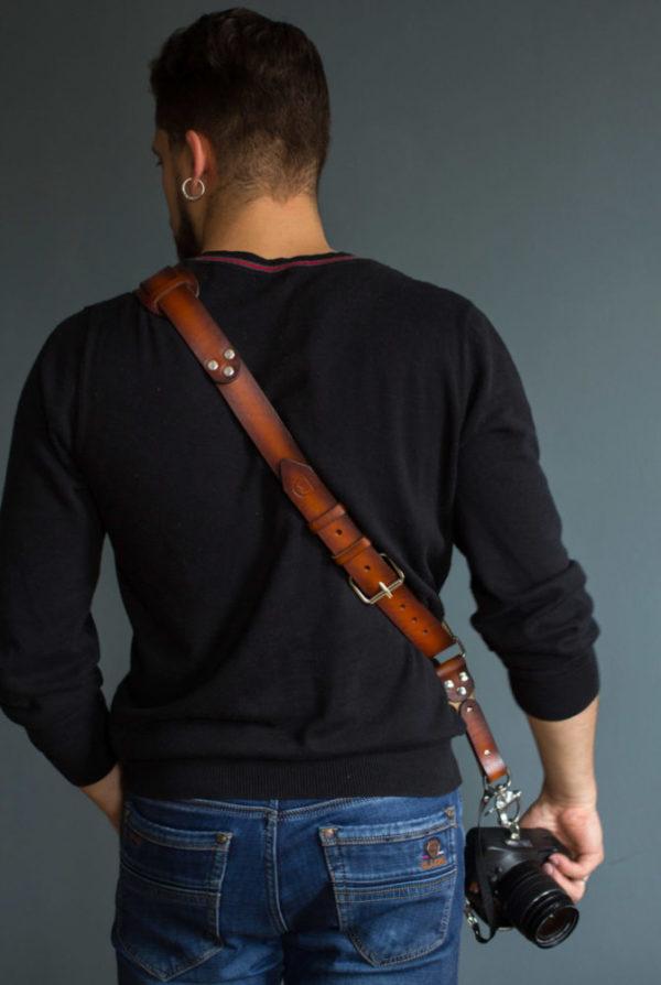 single leather camera strap