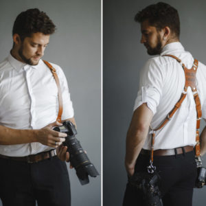 leather camera holster