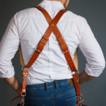 two leather camera straps