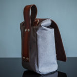 Lens Pouch with gray canvas