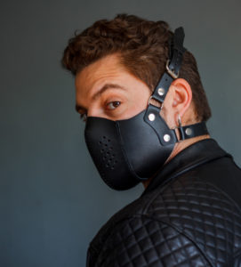 leather face mask