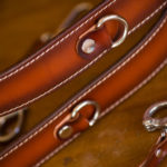 Personalized camera straps with stiching