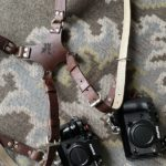 Personalized camera harness with combined strap width